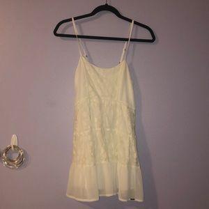 White lace dress // Abercrombie